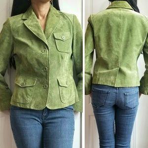 Style & Co. Petite Genuine Leather Jacket Medium